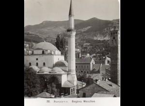 AK-2173/ Sarajevo Begova Moschee Bosnien Foto Stereofoto 1909