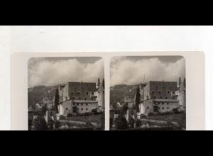 AK-2235/ Schloß Nanders mit Piz Mondin Tirol NPG Stereofoto ca.1905