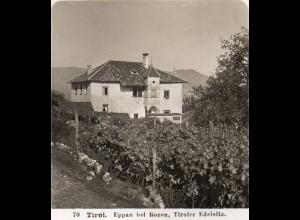 AK-2241/ Eppan bei Bozen Südtirol Italien NPG Stereofoto ca.1905