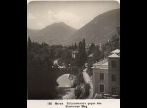 AK-2242/ Meran Gilfpromenade Südtirol Italien NPG Stereofoto ca.1905