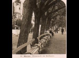 AK-2246/ Meran Promenade am Kurhaus Südtirol Italien NPG Stereofoto ca.1905