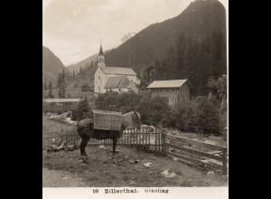 AK-2251/ Zillertal Ginzling Tirol NPG Stereofoto ca.1905