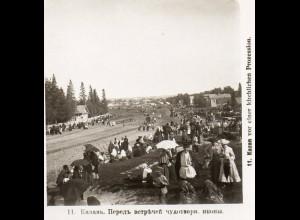 AK-2265/ Kazan kirchl. Prozession Rußland NPG Stereofoto ca.1905