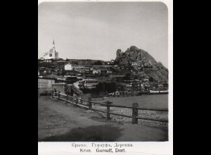 AK-2275/ Krim Grsuff, Dorf Rußland NPG Stereofoto ca.1905
