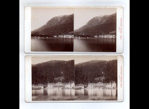 AK-2322/ Hafen Comersee Italien Stereofoto ca.1905