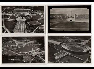 Y13129/ 4 x Olympiade Berlin 1936 Foto AK