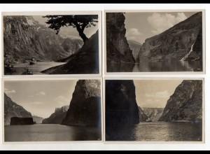 Y13131/ 4 x Foto AK Norwegen Naerofjord, Sognefjord ... ca. 1935