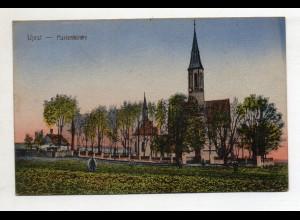 U7519/ Ujest Kr. Groß-Strehlitz Marienkirche Schlesien Polen AK 1920