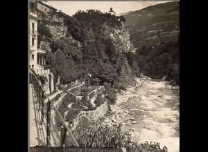 AK-2369/ Meran Giselapromenade Südtirol Stereofoto ca.1905