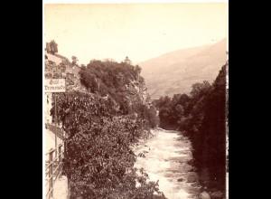 AK-2372/ Meran Zenoburg Italien Stereofoto v Alois Beer ~ 1900