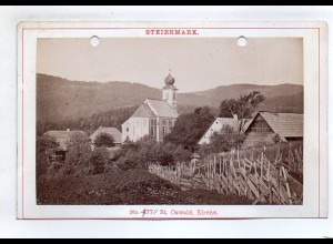 AK-2414/ St. Oswald Kirche Steiermark Kabinettfoto Alois Beer ~ 1900