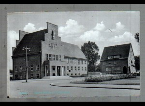 Neg5053/ Wedel Rathaus und Sparkasse altes Negativ 40er Jahre