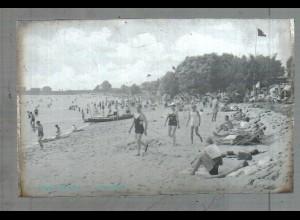 Neg5018/ Wedel Schulau Strandbad altes Negativ 40er Jahre