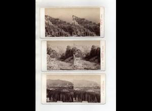 AK-2439/ 13 x Steiermark Österreich Stereofoto v Alois Beer ~ 1900