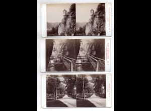 AK-2436/ 6 x Graz und Umgebung Stereofoto v Alois Beer ~ 1900