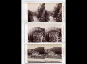 AK-2437/ 6 x Semmering Österreich Stereofoto v Alois Beer ~ 1900
