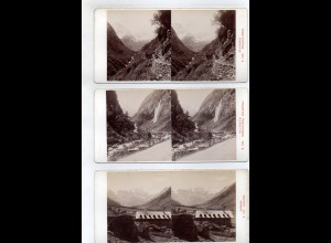 AK-2438/ 11 x Salzburg und Umgebung Stereofoto v Alois Beer ~ 1900