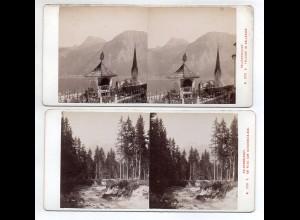 AK-2448/ 2 x Salzkammergut Stereofoto v Alois Beer ~ 1900