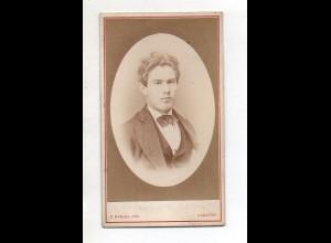 Y13225/ CDV Foto junge Mann, Foto W. Wunder, Hannover ca.1875