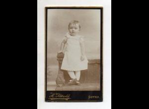 Y13227/ CDV Foto kleines Kind Mädchen Foto H. Pätzold , Gotha ca.1880