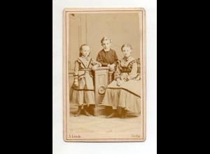 Y13286/ CDV Foto Kinder Mieze, Richard + Elise Ewald Atelier A. Linde, Gotha,