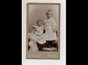 Y13280/ CDV Foto zwei Kinder Foto H. Pätzold, Gotha ca.1890