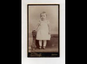 Y13282/ CDV Foto kleines Mädchen Foto H. Pätzold, Gotha ca.1890