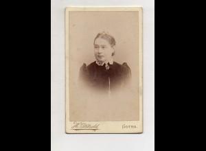 Y13283/ CDV Foto junge Frau H. Pätzöld, Gotha 1892