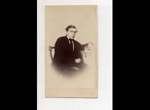 Y18758/ CDV Foto Prof. Burbach aus Gotha Fotograf L. Schmidt, Gotha ca.1870-80