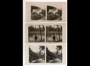 AK-2455/ 9 x Achensee und Umgebung Tirol Stereofoto NPG Foto ca.1905