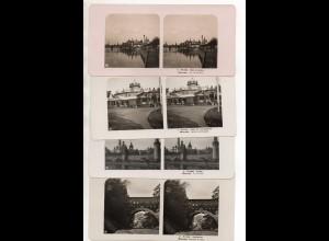 AK-2472/ 4 x Moskau Rußland Stereofoto NPG Foto ca.1905