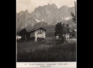 AK-2480/ Ampezzotal Dolomiten NPG Stereofoto ca. 1905