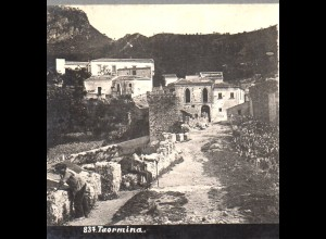 AK-2518/ Toarmina Italien Stereofoto ca.1905