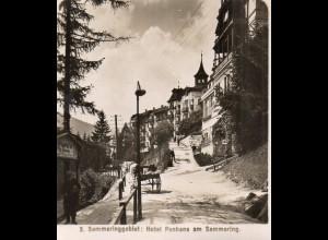 AK-2606/ Hotel Panhans am Semmering Steiermark, Photobrom Foto Stereofoto 1908