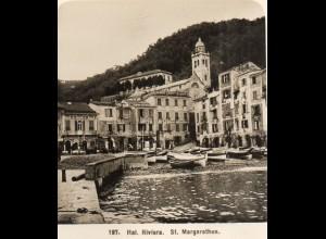 AK-2609/ St. Margarethen Italien Riviera NPG Foto Stereofoto ca.1905