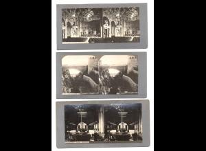 AK-2588/ 3 x Monaco Monte Carlo Stereofoto ca.1905