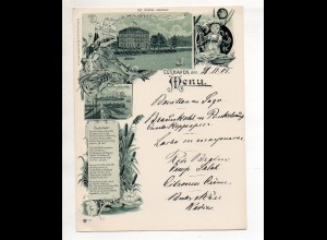 C3071/ Cuxhaven Dölle`s Hotel Menukarte Speisekarte Litho 1901