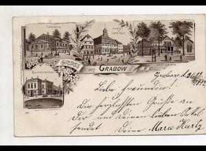 XX005406-193/ Gruß aus Grabow Litho AK 1897