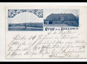XX005420-239/ GRuß aus Börzow i. Meckl. AK 1899