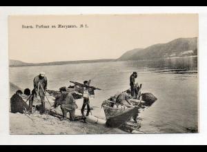 XX005530/ Wolga Scenerie Rußland AK ca.1910 Nr.1