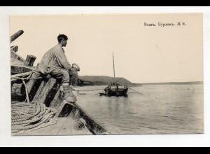 XX005532/ Wolga Scenerie Rußland AK ca.1910 Nr.8