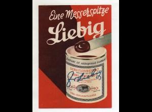 Y13738/ Liebig Fleisch-Extrakt altes Werbeblatt gefaltet