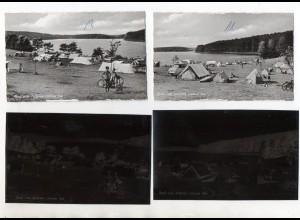 Y13749/ 2 x AK + Negativ Lütauer See bei Lehmrade Zeltplatz ca. 1955