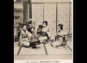 AK-2688/ JAPAN Geisha Damenkapelle NPG Foto Stereofoto ca.1905
