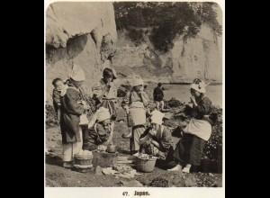 AK-2686/ JAPAN Typen Frauen NPG Foto Stereofoto ca.1905