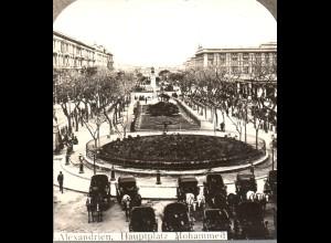 AK-2691/ Alexandrien Hauptplatz Mohammed Ägypten Stereofoto ca.1905