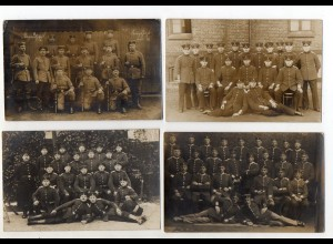 XX005917/ 16 x Foto AK 1. Weltkrieg Soldaten Gruppenfoto Feldpost
