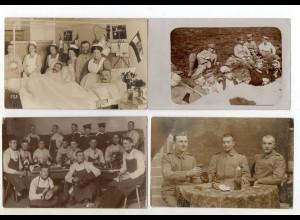 XX005915/ 16 x Foto AK 1. Weltkrieg Soldaten Feldpost