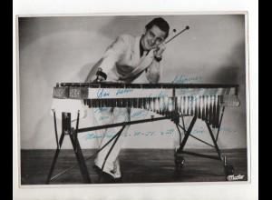 C3085/ Variete Foto mit Widmung Xylophon-Spieler 1951 23,5 x 17,5 cm
