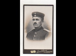 Y14140/ CDV Foto Soldat in Uniform Atelier Jos. Minet, Elmshorn ca.1910
